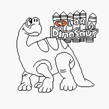 为恐龙上色