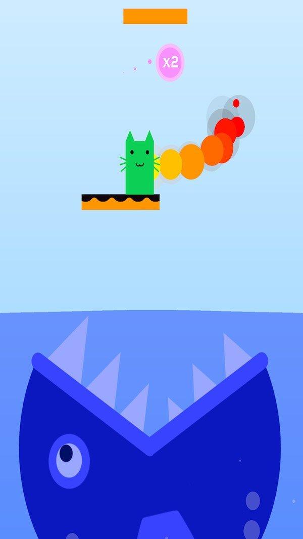 貓咪向上跳
