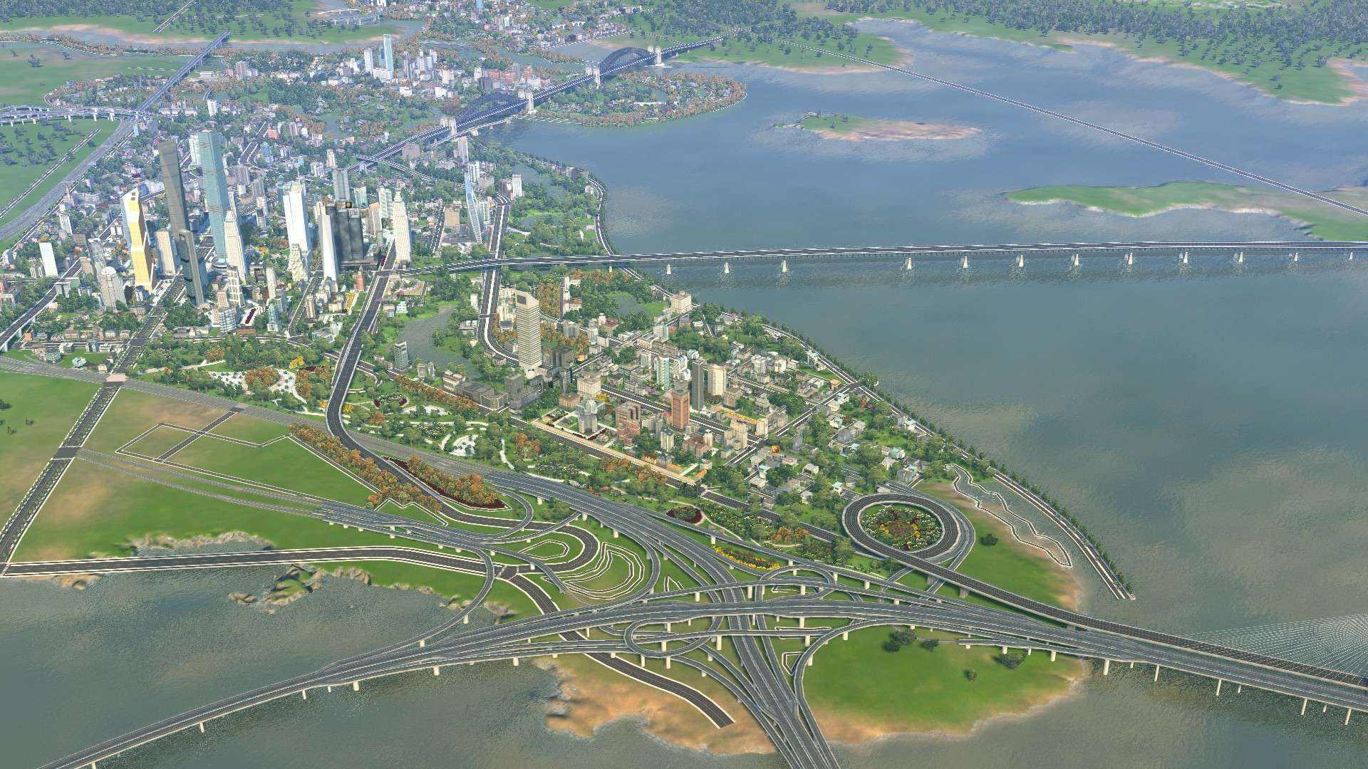 城市天际线环形路口mod