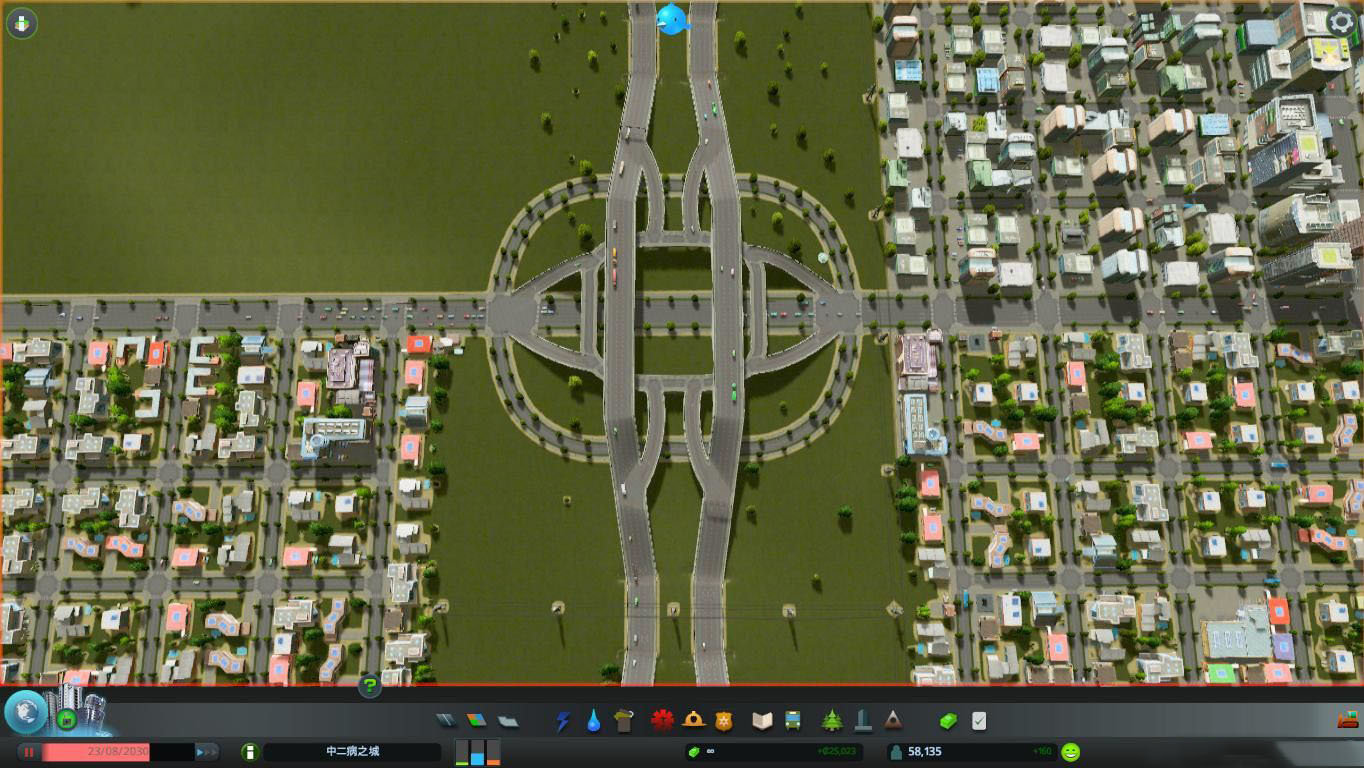 城市天際線環形路口mod