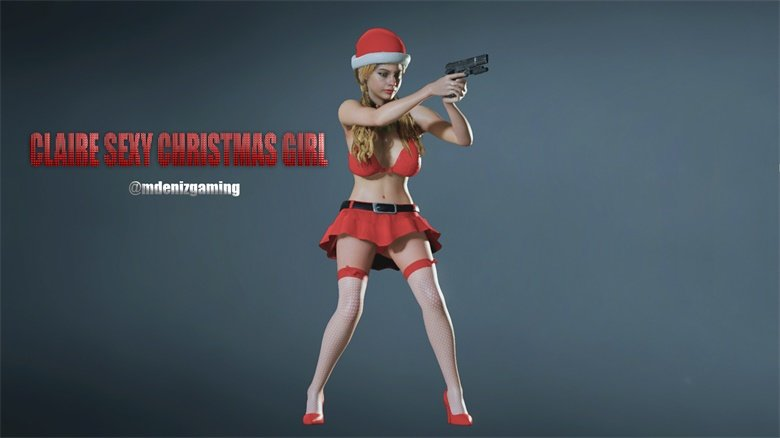 生化危机2重置版克莱尔性感圣诞女郎mod