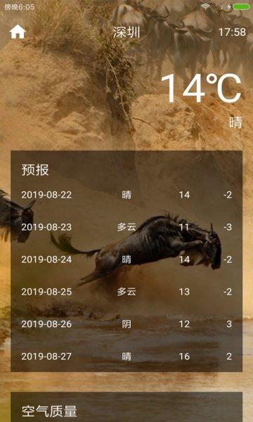 多彩生活天氣介紹