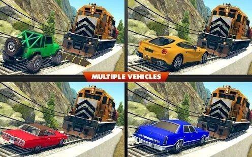 火车与撞车比赛