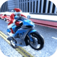 圣诞老人摩托车竞速