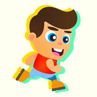 儿童趣味赛跑
