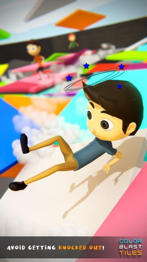 彩色爆炸瓷砖3D