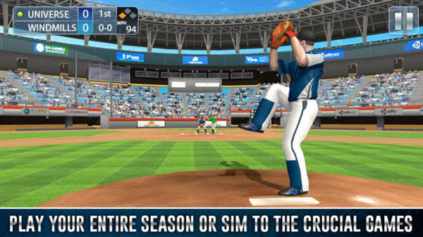 棒球職業比賽截圖