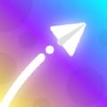 色彩纸飞机