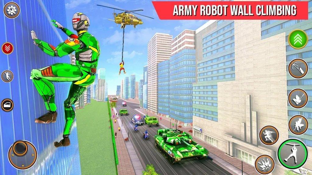 陆军机器人绳索英雄