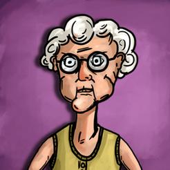 发抖老奶奶