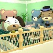 小逃生熊沙发的房间