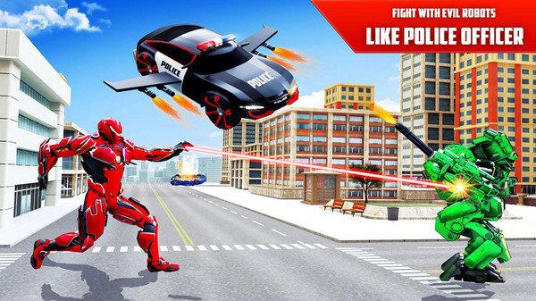 飞行警车变形机器人