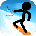stickman snow ride
