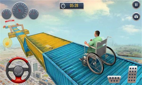 疯狂轮椅挑战赛游戏截图