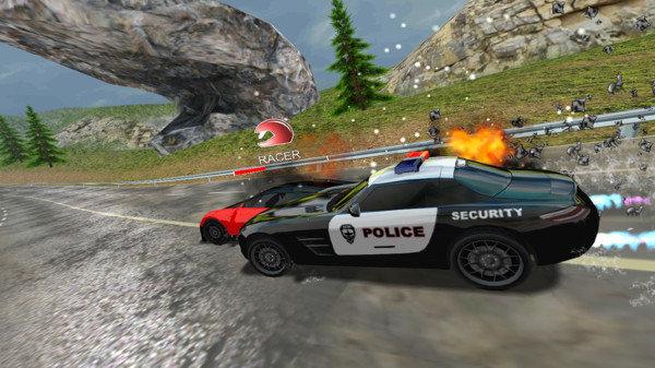 跑车和警察游戏截图