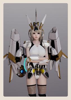 AI少女蝴蝶翅膀女孩捏脸数据包