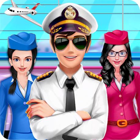 机组人员女孩飞机经理