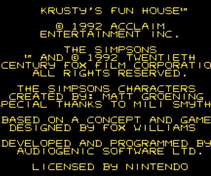 Krusty的乐趣屋