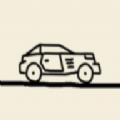 卡通画线汽车