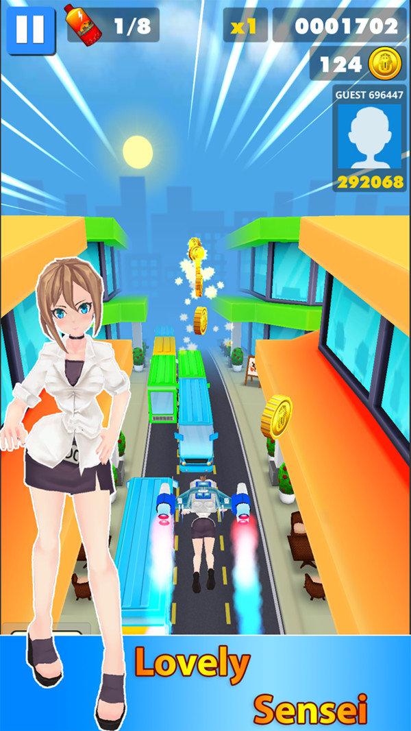 地铁美女跑酷