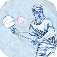 在纸上的乒乓球