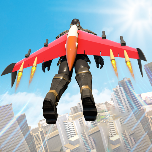 喷气背包飞行英雄