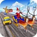 圣诞童车比赛