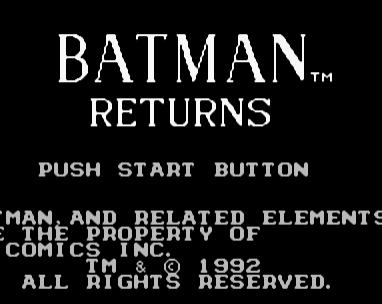 蝙蝠侠回归FC版
