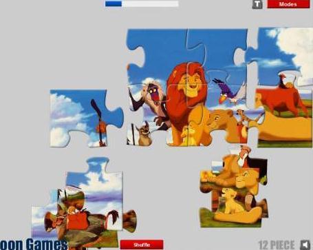 狮子王易趣拼图