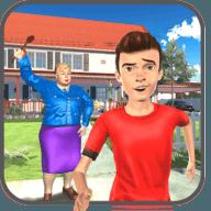 虛擬鄰居男孩家庭無限金幣版