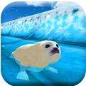 北极动物冻水滑块