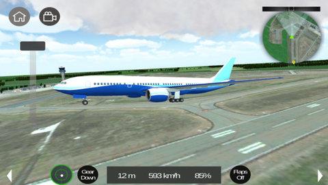 和平飞行飞机模拟