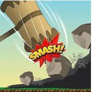 城堡锤时间摇摆粉碎山岩石