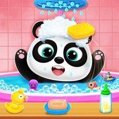 胖乎乎的熊猫保持关怀