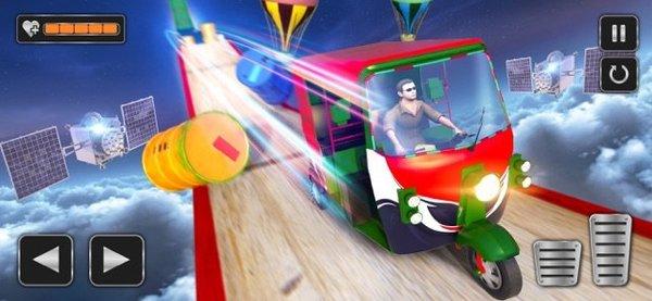 黄包车坡道特技竞速3D