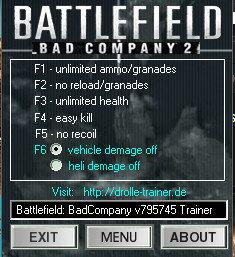 战地叛逆连队2七项修改器