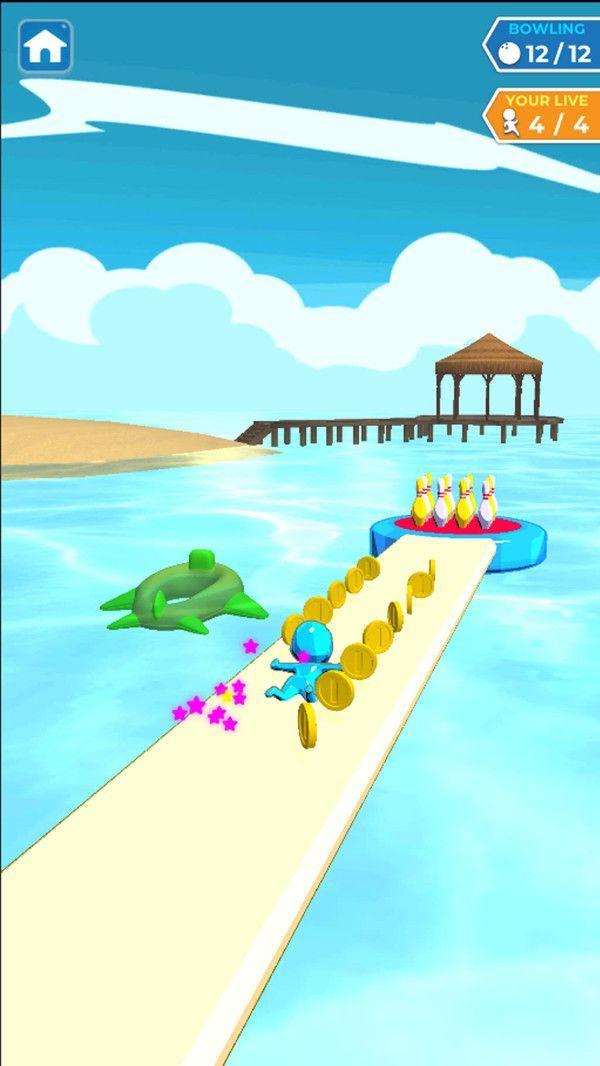 水上滑行保齡球截圖