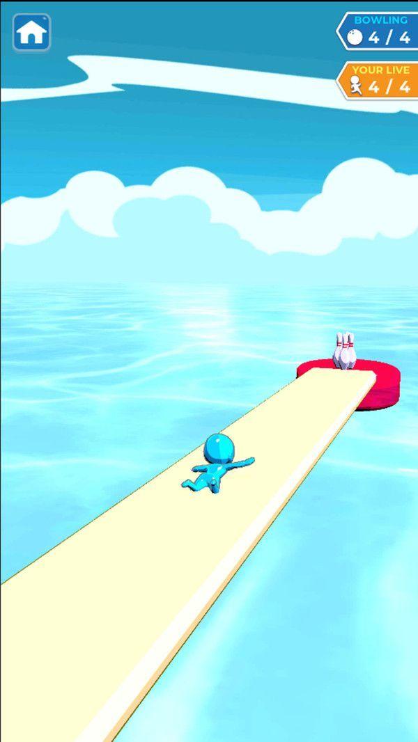 水上滑行保龄球