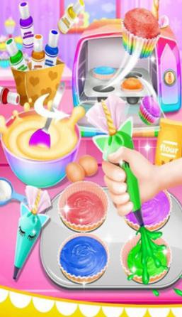 彩虹杯形蛋糕截圖