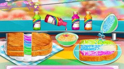 魔术彩虹食品