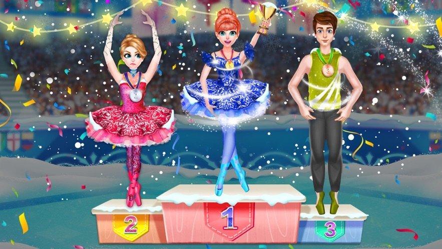 冰芭蕾舞女演员