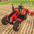 真实耕作拖拉机
