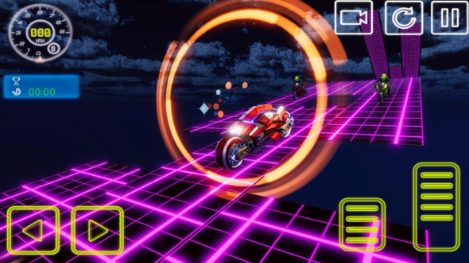 霓虹摩托车特技赛车截图