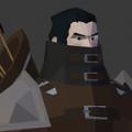 中世纪城墙战士