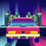 彩色汽车驾驶模拟器