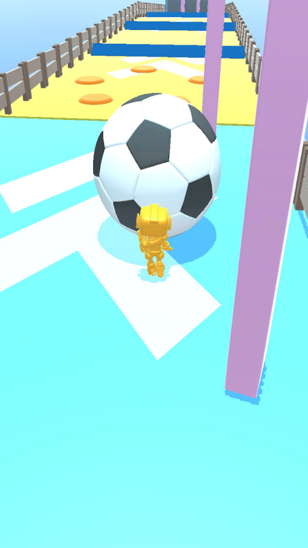机器人推球