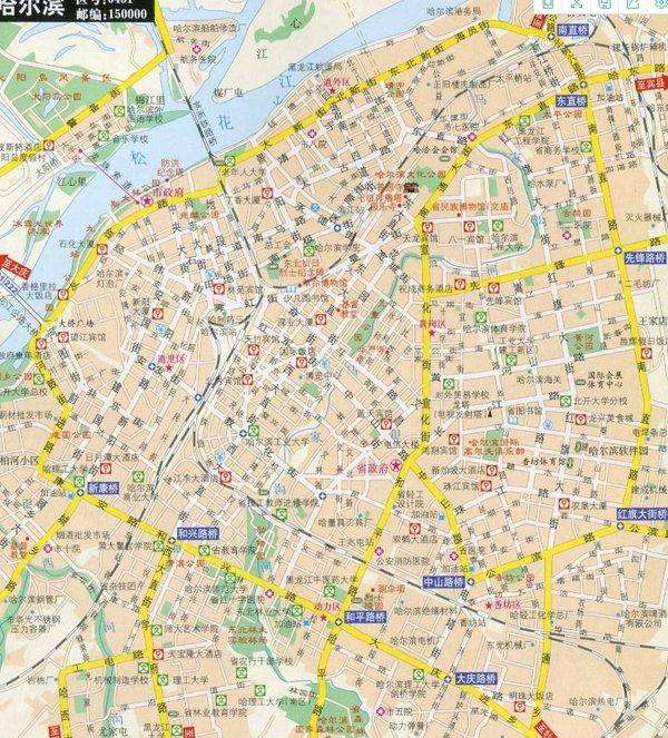 哈尔滨旅游地图电子版2020-哈尔滨大雪旅行地图2020最新