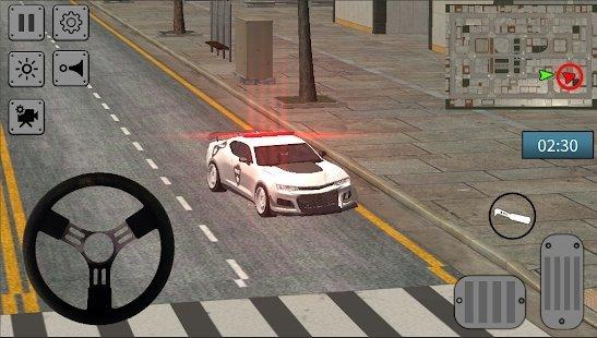 警察追击汽车驾驶模拟器