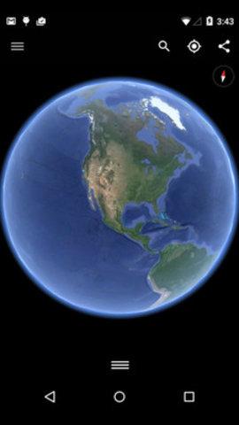 谷歌卫星混合图3d