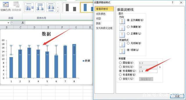 excel常用誤差線_excel表柱形圖如何做標準誤差線